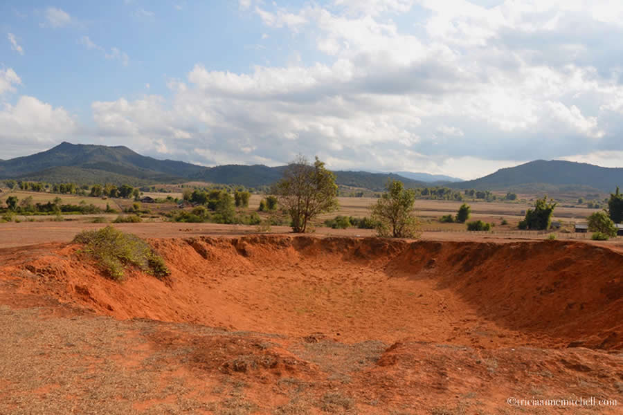 Bomb Crater Laos Xieng Khouang Province
