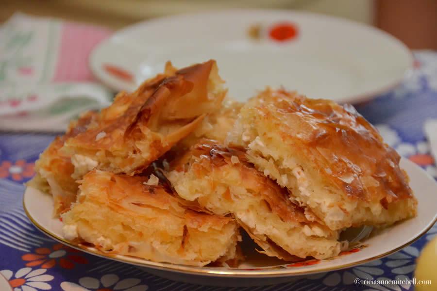 Bulgarian Banitsa Pastry Cheese