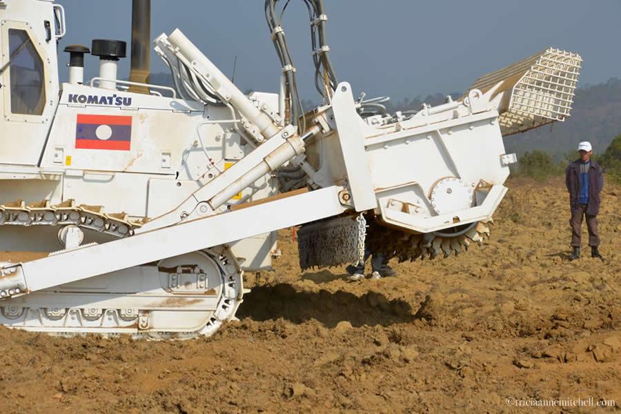 Komatsu JMAS Mine Removal Rural Laos