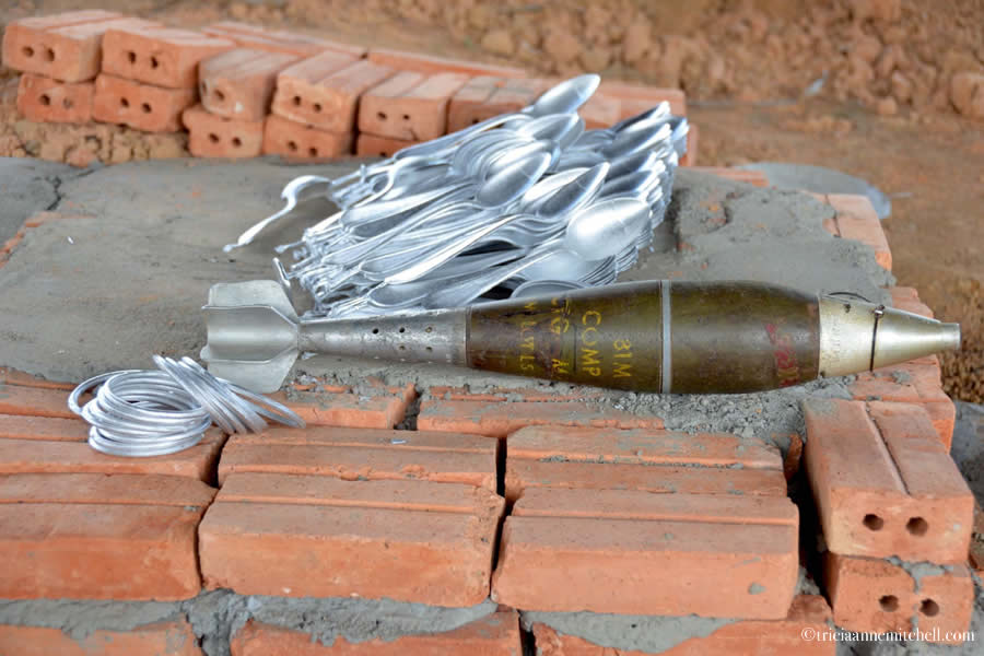 Laos Bombs Spoons Bracelet Chopsticks