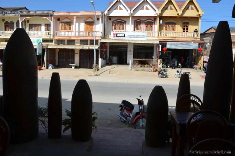 Phonsavan Laos Bomb Casing Silhouette