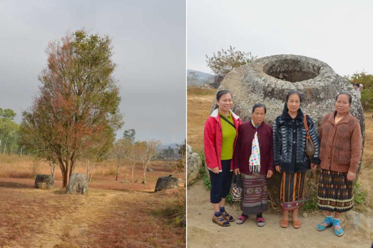Plain of Jars Site 1 in Laos