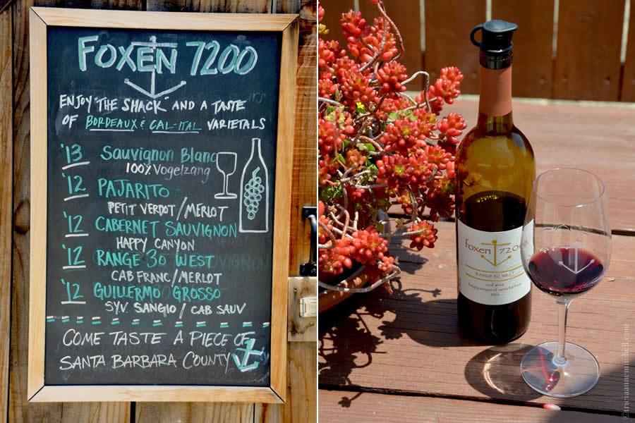 Foxen Winery 7200 Tasting Santa Barbara County