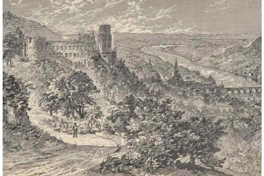 Heidelberg Castle from a Tramp Abroad