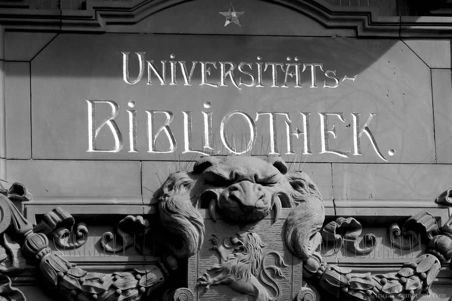Decoration on Heidelberg's University Library reads