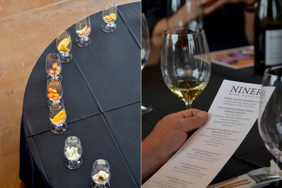 Nine Wine Estates Aromatics Display & Tasting Menu