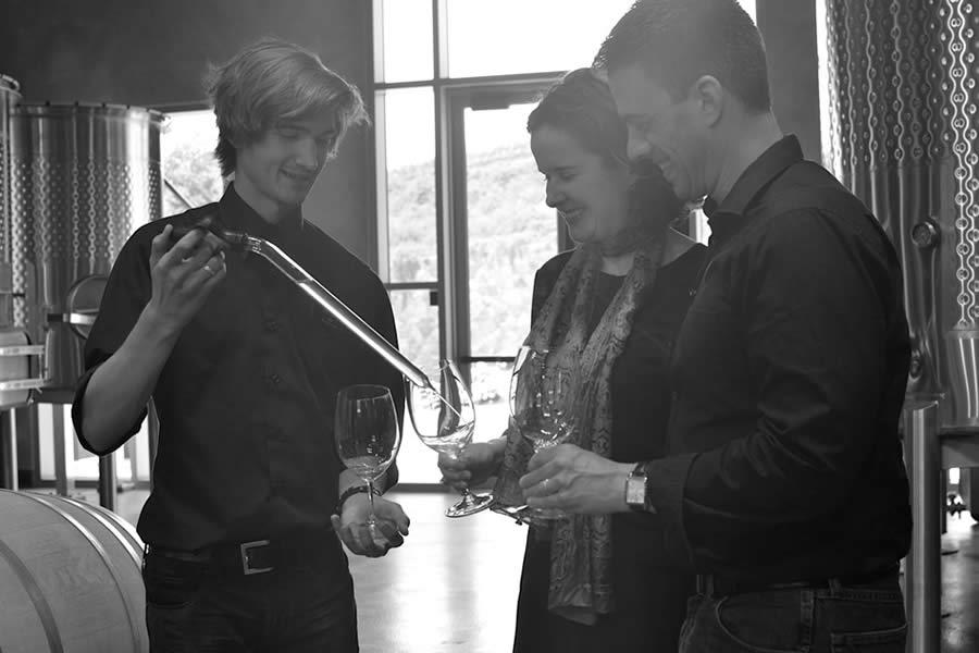 Niner Wine Estates barrel tasting