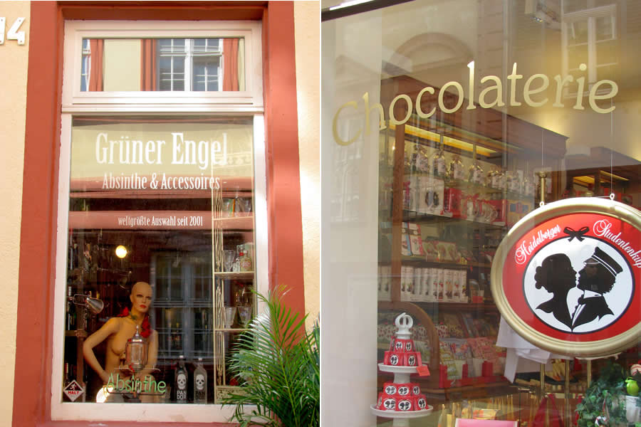 Student Kiss Chocolate and Absinth in Heidelberg
