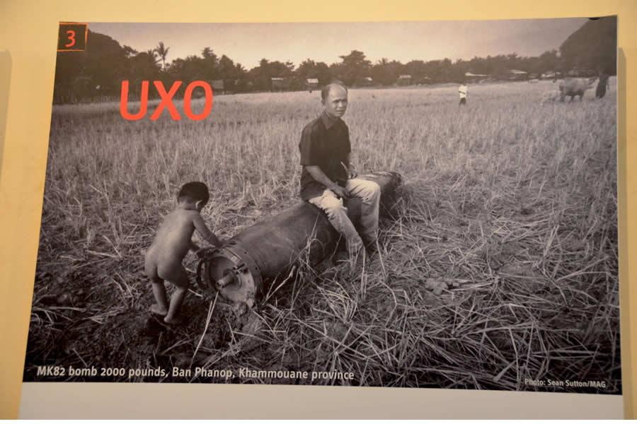 UXO Display from MAG Phonsavan Visitors Center