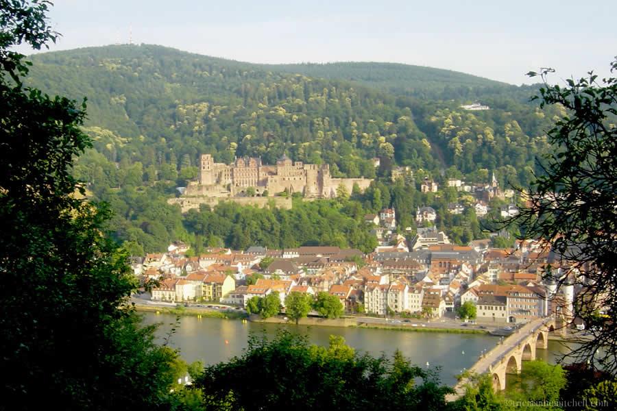 View from Heidelberg Philosophenweg Philosopher's Walk