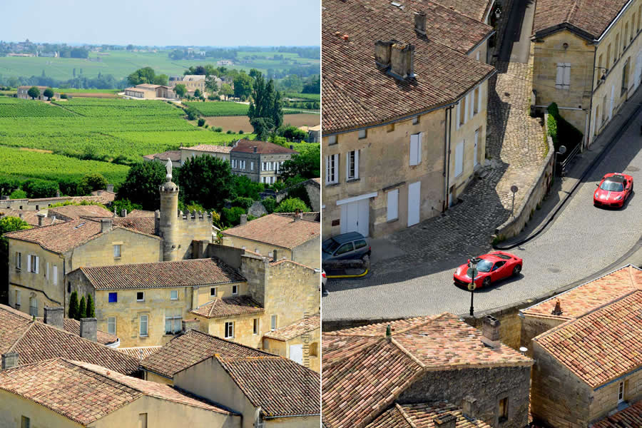 Overhead view Saint-Emilion Bordeaux