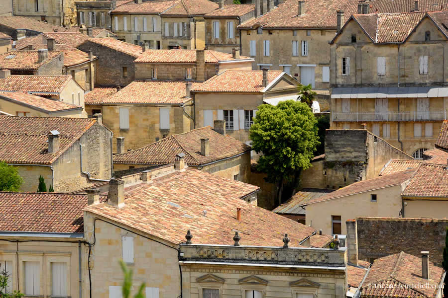 Saint Emilion Rooftops and Homes