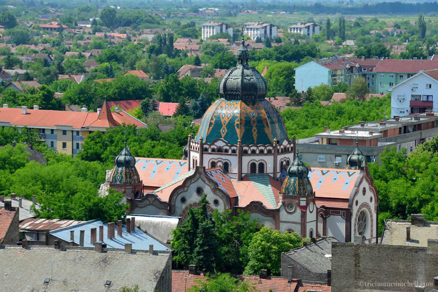 Subotica Synagogue Dome from Above Serbia