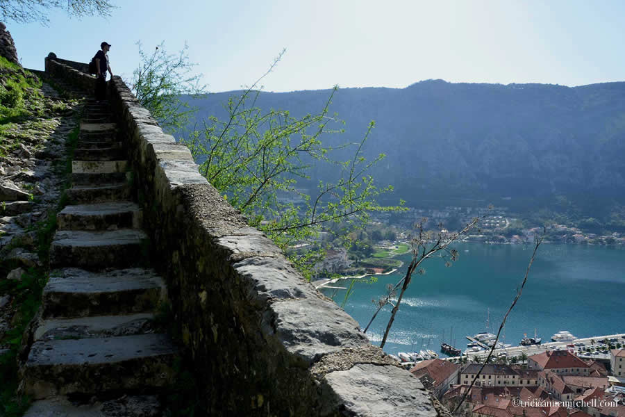 View from Hike to Kotor Fortress