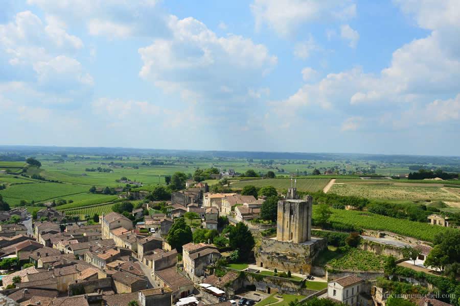 View from Saint-Emilion Church Tower