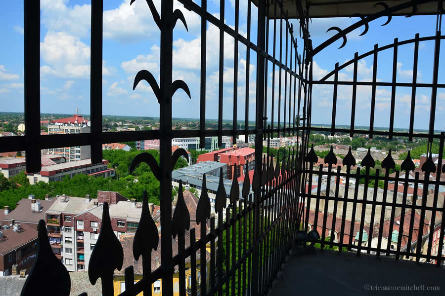 View from Subotica City Hall Tower