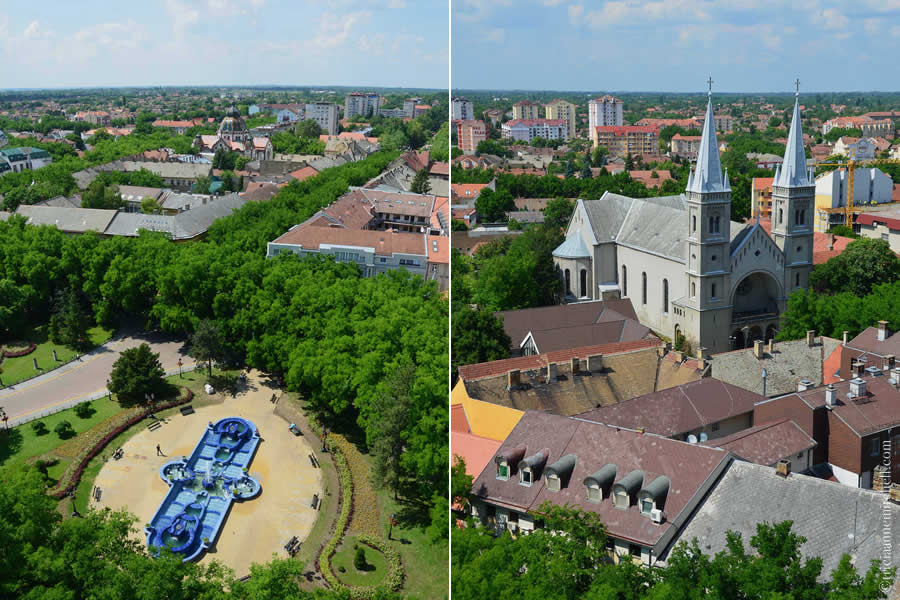 Aerial View of Subotica Serbia