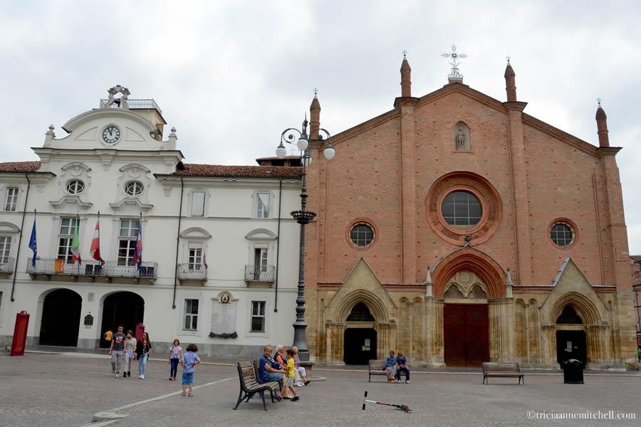 Asti Italy Collegiata di San Secondo and Town Hall
