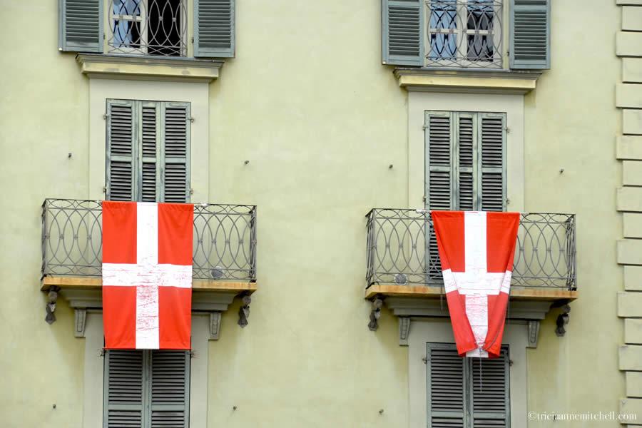 Asti Italy Flags Balcony