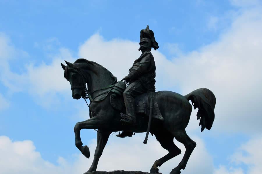 Asti Italy Statue Horseback