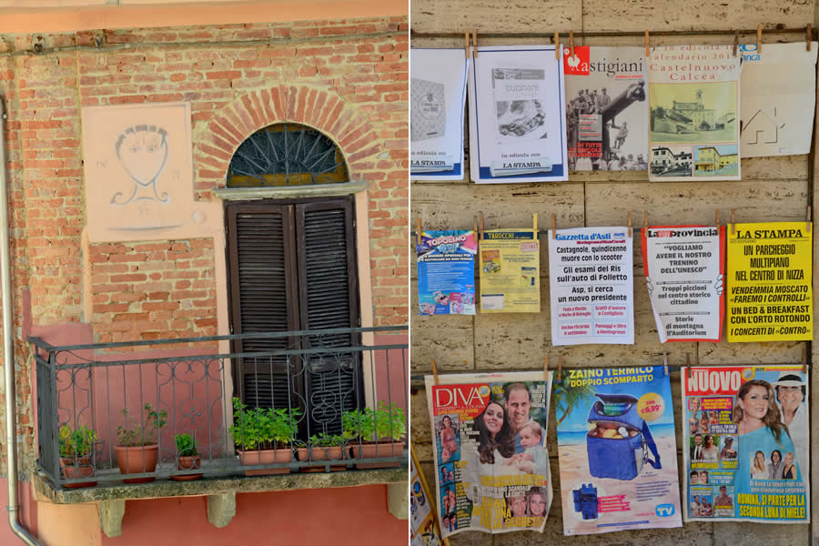 Details in Castelnuovo Calcea Italy