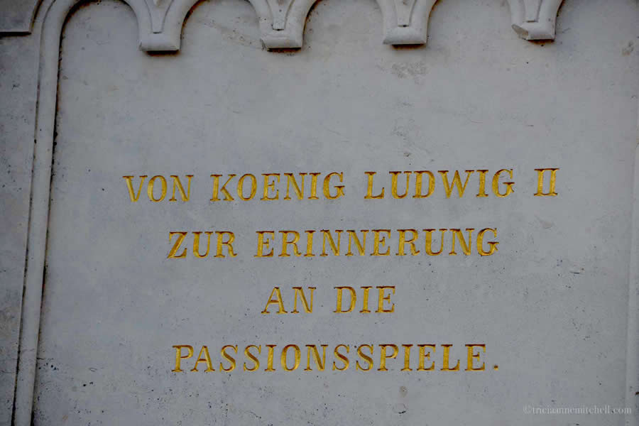 An inscription on a monument in Oberammergau, Germany reads: