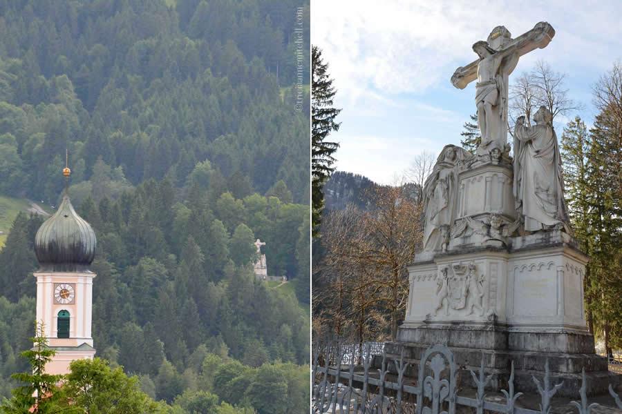 Oberammergau Kreuzigungsgruppe Crucifix Monument