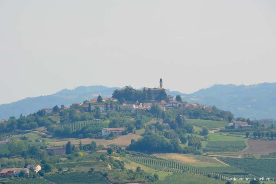 View from Comune di Castelnuovo Calcea Piemonte Italy
