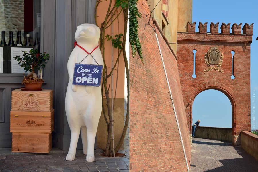Barolo Castle Street Scenes Italy