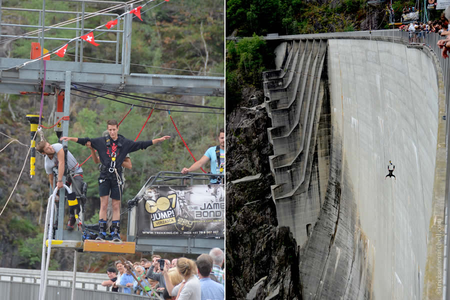 Bungee Jumping Verzasca Dam James Bond