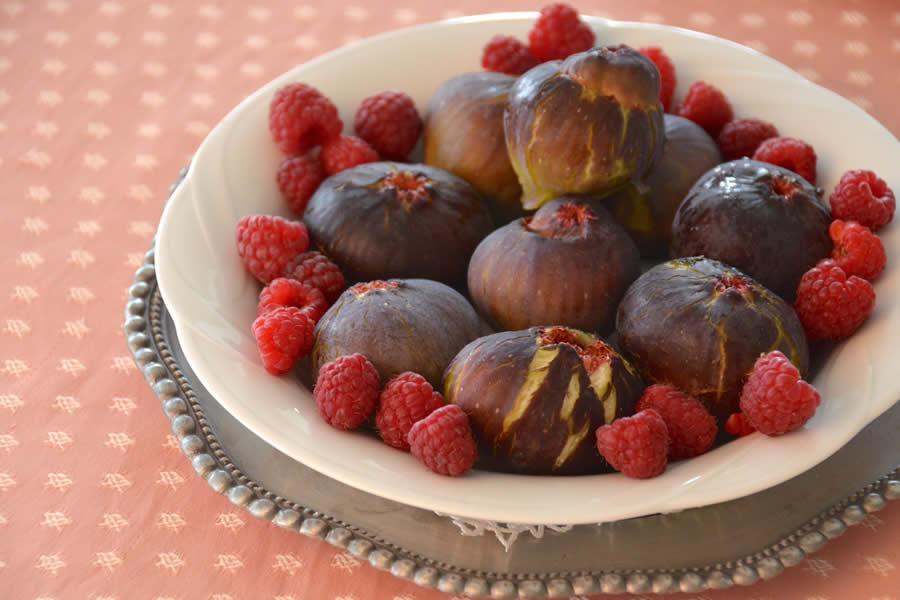 Fresh Figs and Raspberries Switzerland