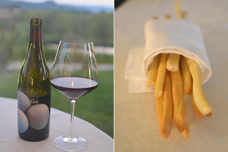La Riserva del Gusto Grissini and Goj Wine