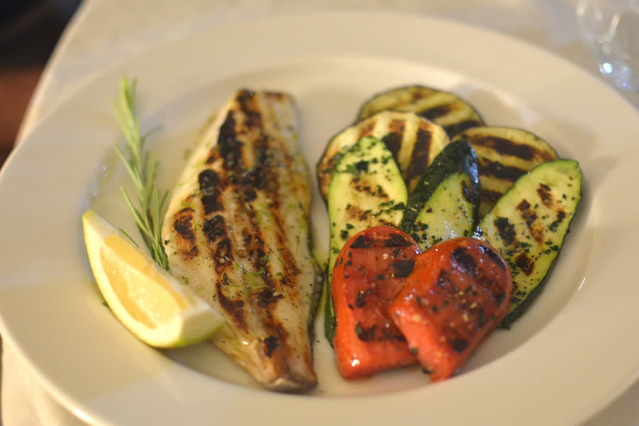 La Riserva del Gusto Sea Bass with Grilled Vegetables