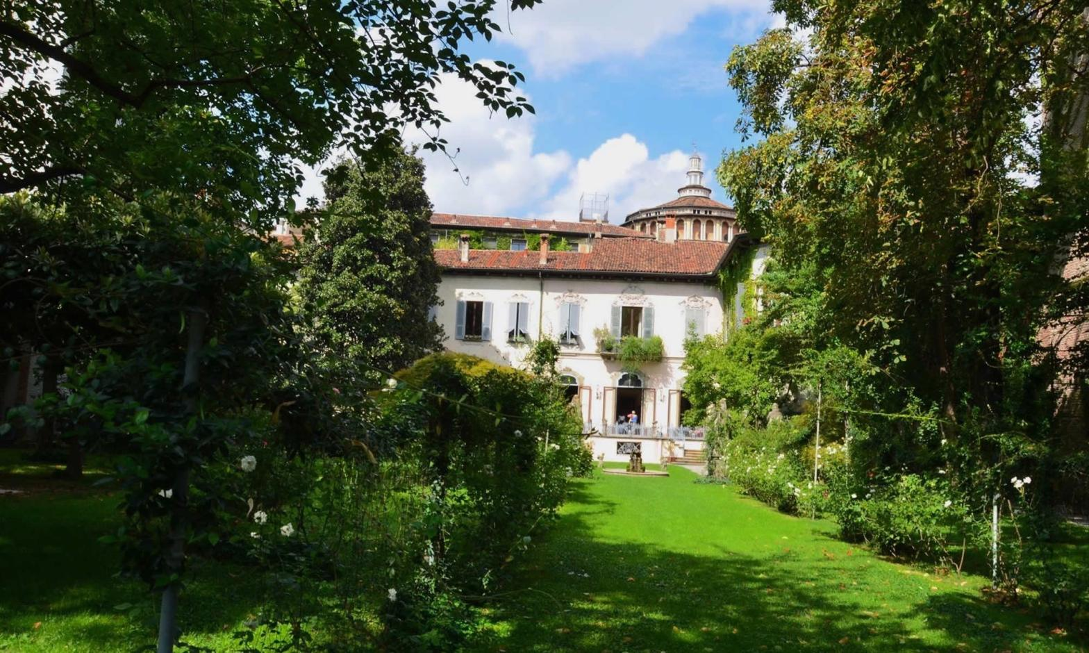 Leonardo da Vinci's vineyard, and a villa, in Milan, Italy.