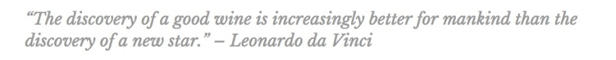 Leonardo da Vinci vineyard wine