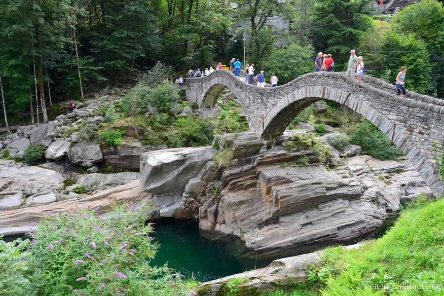 Ponte dei Salti Roman Bridge Ticino Switzerland