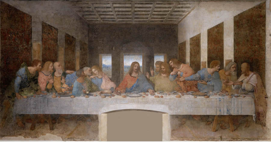 The Last Supper Leonardo Da Vinci Public Domain