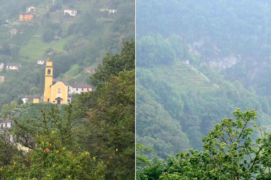Bellinzona view from Three Castles