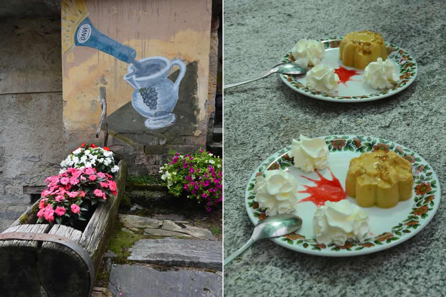 Corippo Ticino Switzerland Budino alle Castagne Dessert