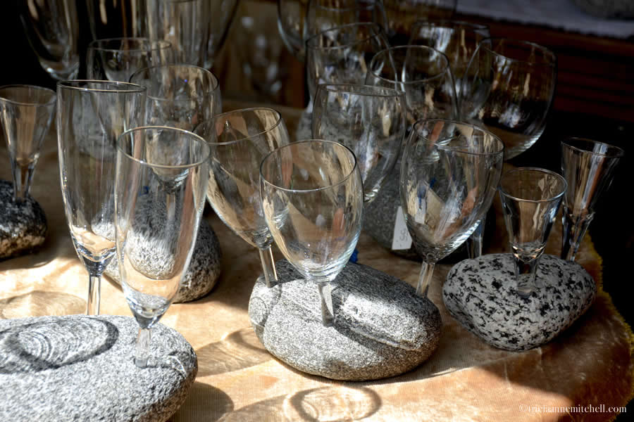 Granite Ticino Wine Glass Holders
