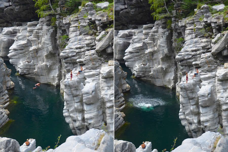 Ponte Brolla Cliff Diving Ticino