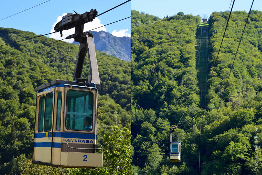 Rasa Ticino Funivia Cable Car Switzerland
