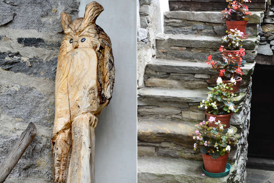 Ticino Flowers Woodcarving Switzerland