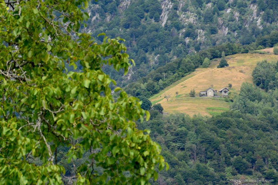 View from Rasa Ticino Switzerland