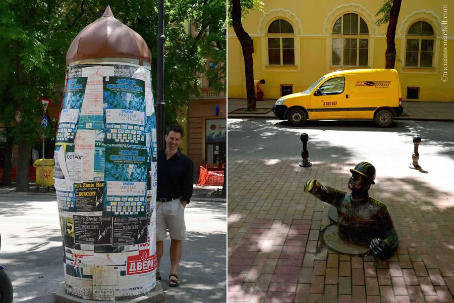 Subotica Man Sidewalk Advertising Morris Column