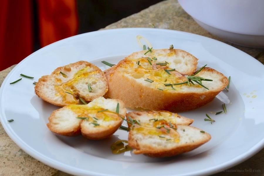 Gluten free bread with Maltese honey, rosemary, olive oil