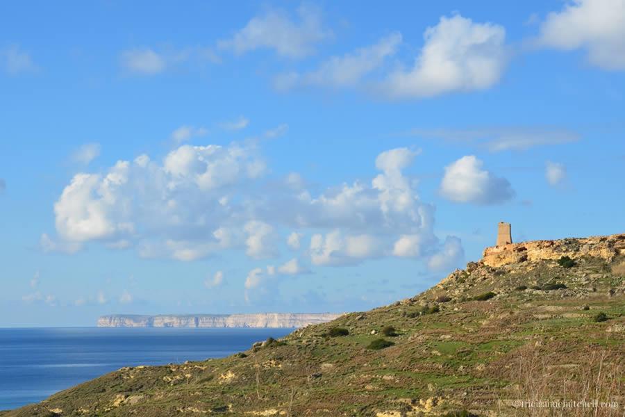 Gnejna Bay and Lippija Tower Malta
