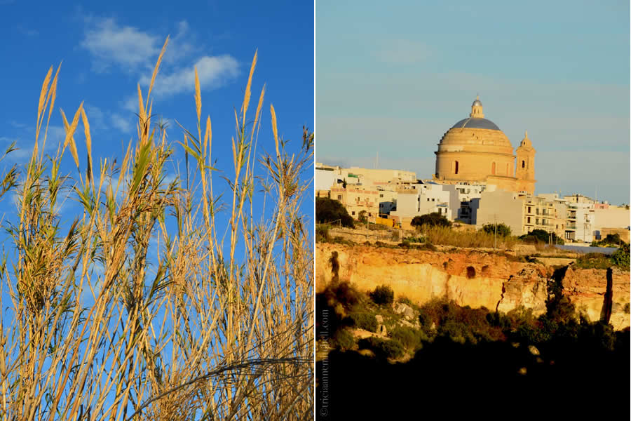 Maltese Countryside and Mgarr Church Dome