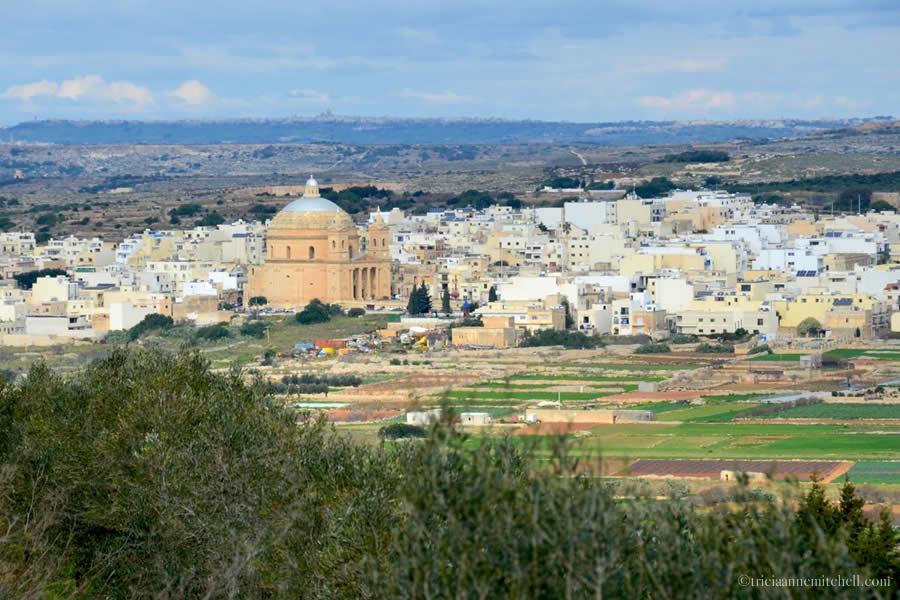 Mgarr Parish Church Malta Countryside