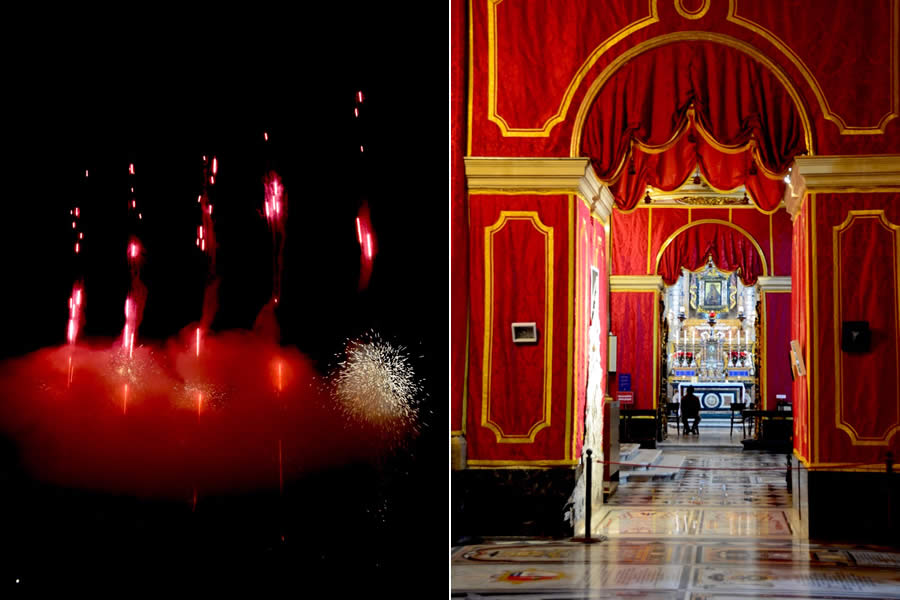 Malta Cospicua Fireworks and Mdina Cathedral